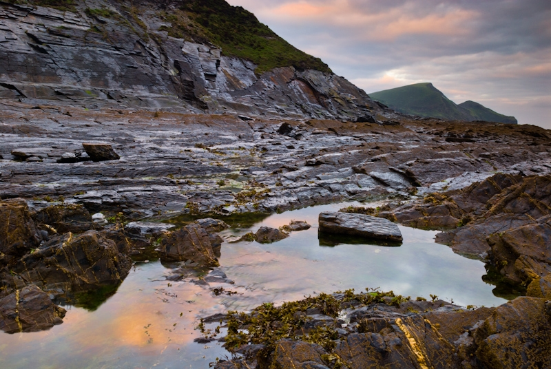 Sunset at Crackington Haven, north Cornwall