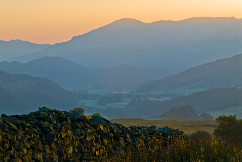 Dawn over Carney Fell, Lake District