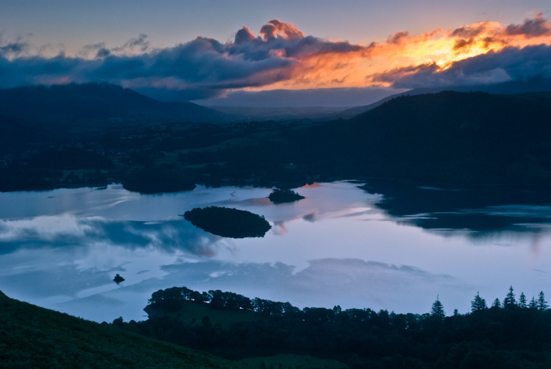 Catbells and Derwent Water at Dawn