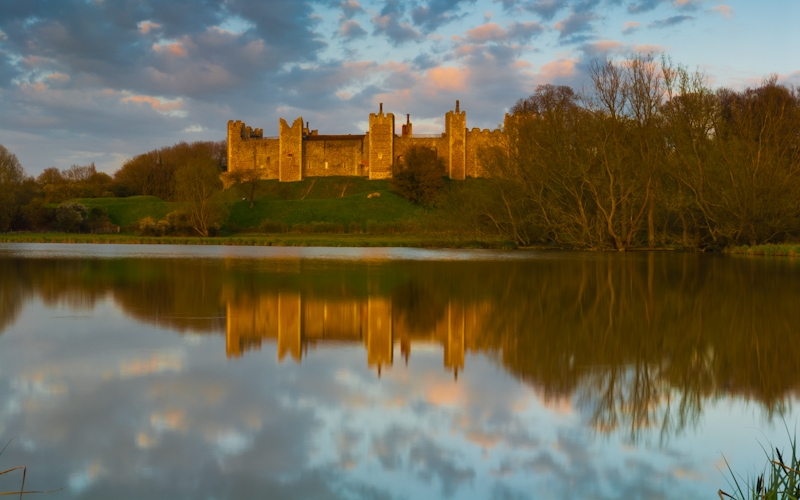 Framlingham Castle at sunset