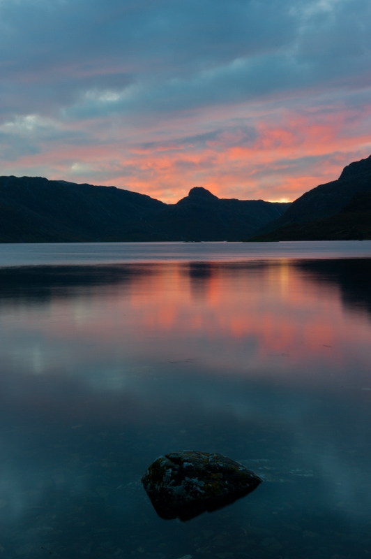Loch Glencoul at sunrise, Sutherland