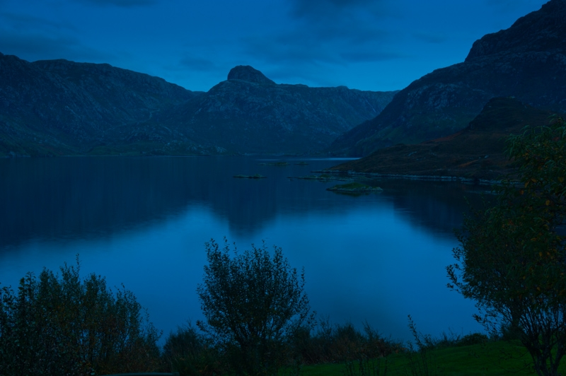 Loch Glencoul at night, Unapool, Sutherland