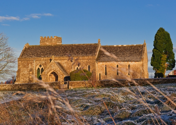 English Country Church in winter